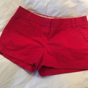 J crew chino shorts size 6 in red
